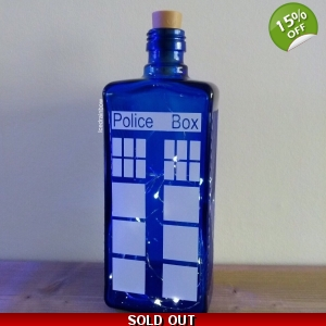 Blue Glass Tardis ..